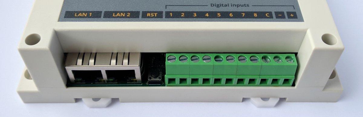 7bit Synapse moduł IO Modbus TCP 8DI/DO/1-Wire/2xETH