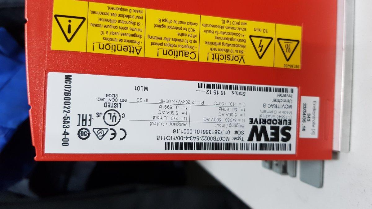 Falownik SEW MOVITRACK MC07B0022-5A3-4-00