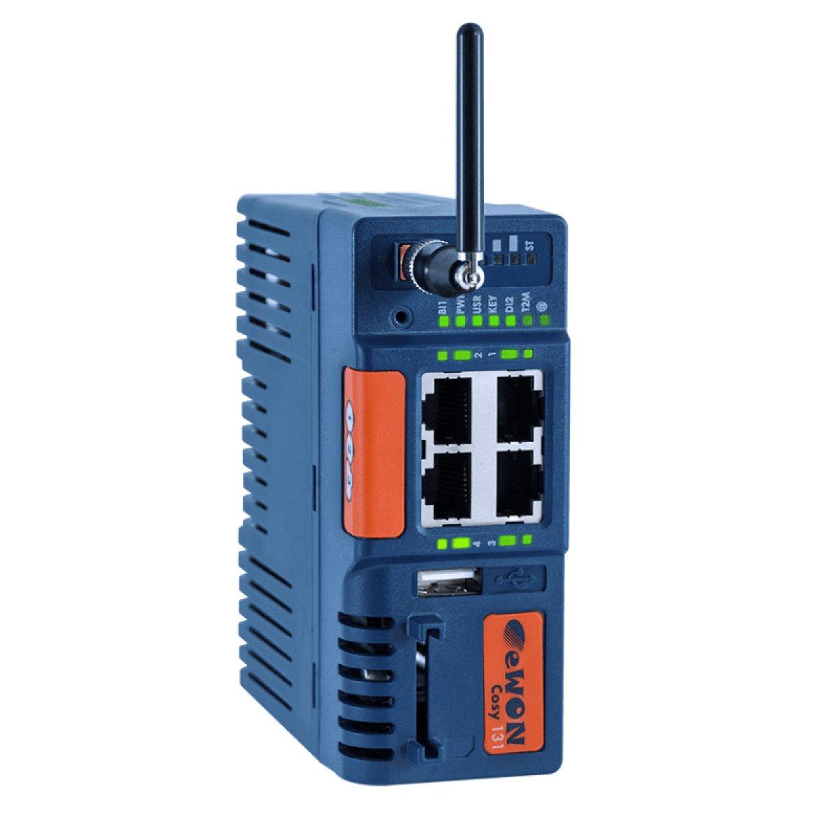 Zdalny dostęp do maszyn eWON COSY 131 z modemem 3G+ - 2DI, 1DO - EC6133D-00M