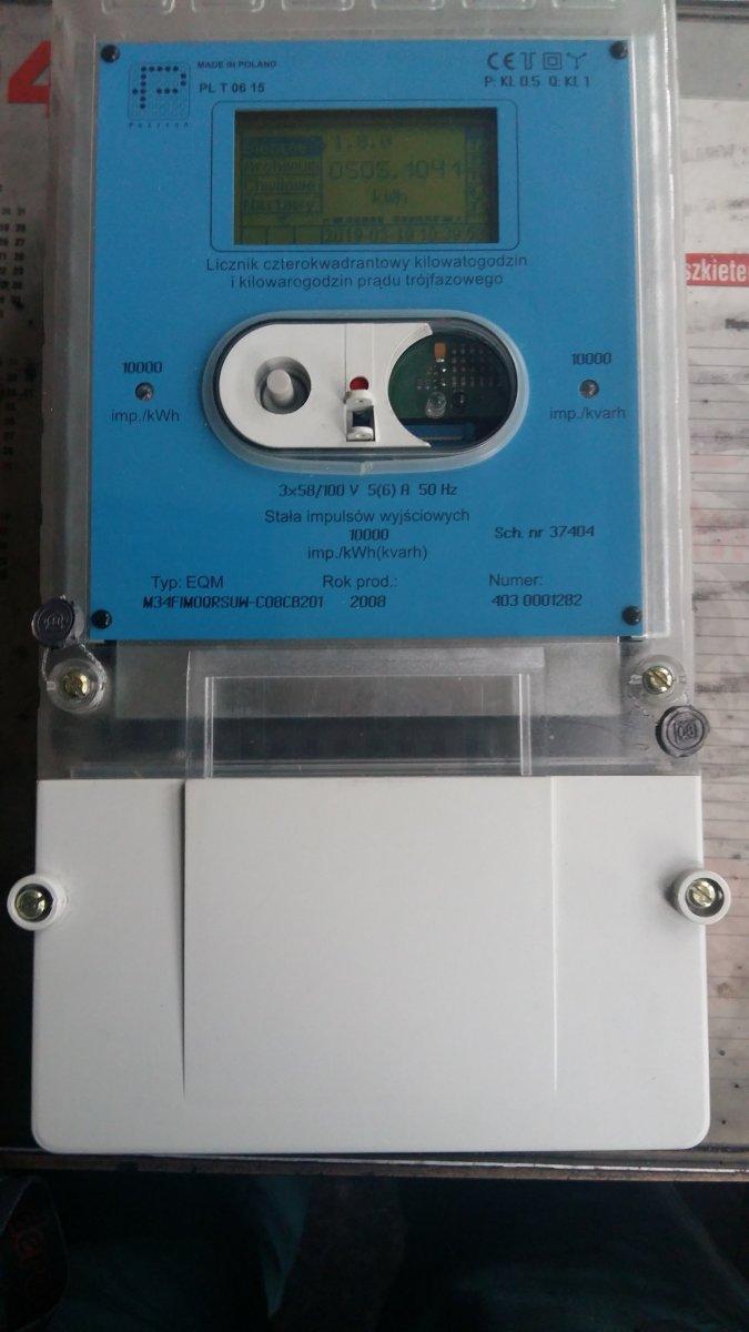 Trójfazowy licznik prądu typ EQM