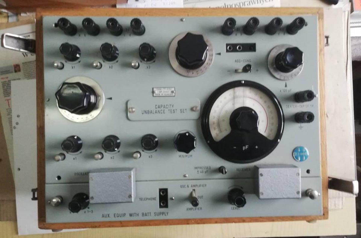 tester pojemności, TEL-MES , Type TT-3150, made in Hungary  ; Capacity unbalance test set