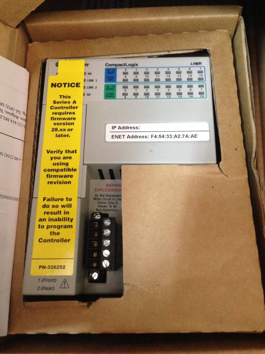 Sterownik PLC CompactLogix L19