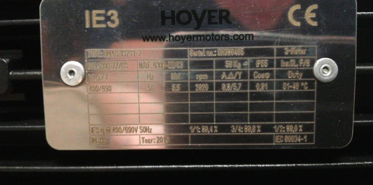 Silnik 5,5 kV, 3000obr/min, Hoyer NOWY