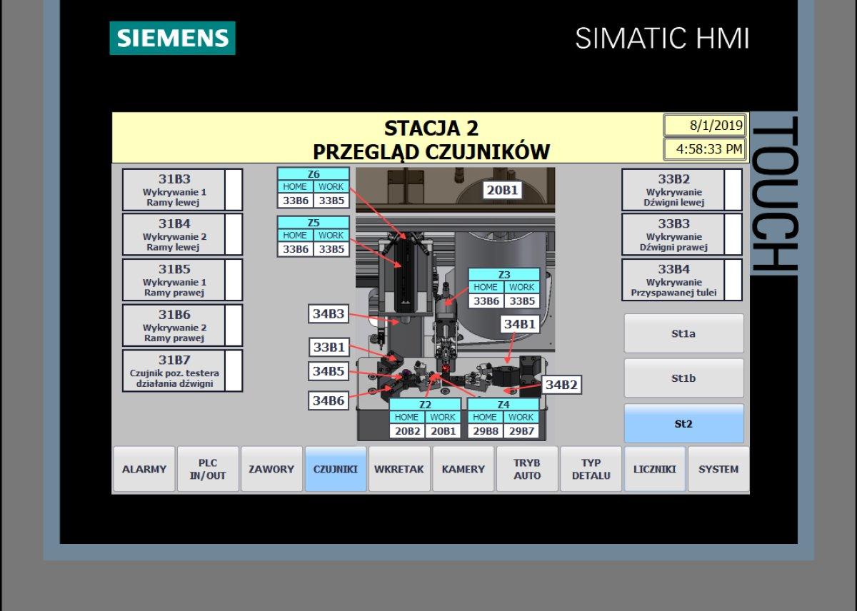 Automatyka - Prefabrykacja - Projekt - Programowanie PLC HMI