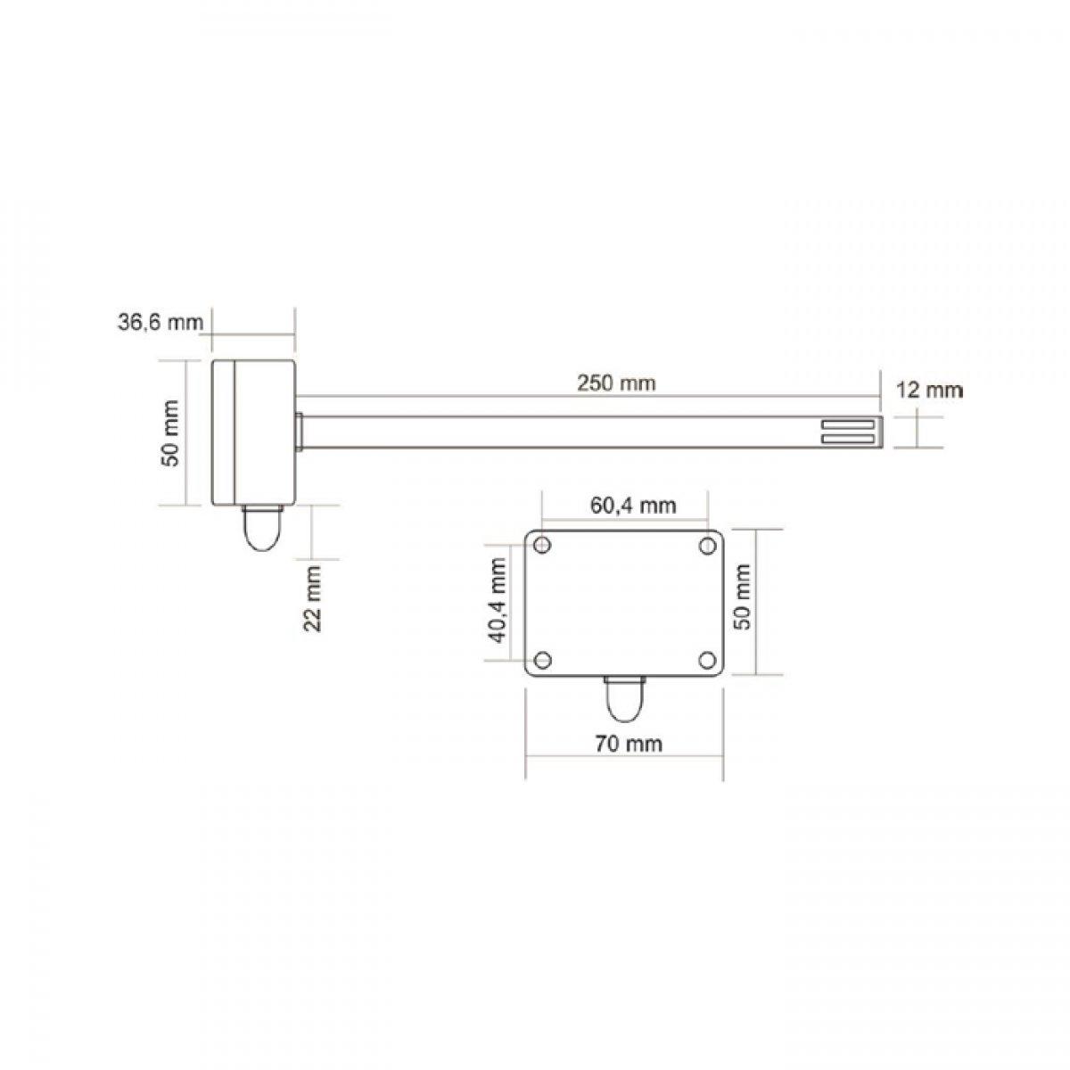 DTS-PT1000 Pasywny kanałowy czujnik temperatury PT1000, 1000 OHM/0°C