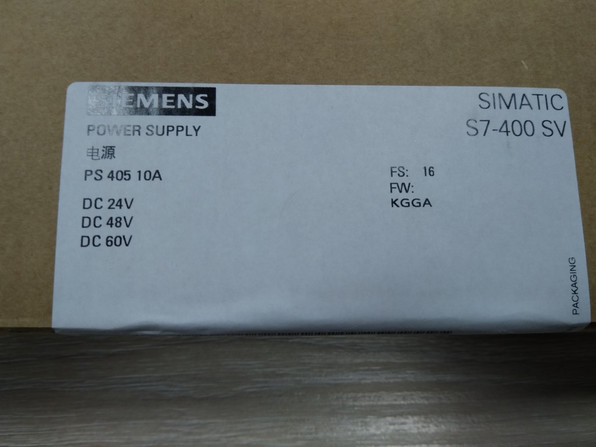 Zasilacz do S7-400: PS 405 10A, 6ES7405-0KA02-0AA0