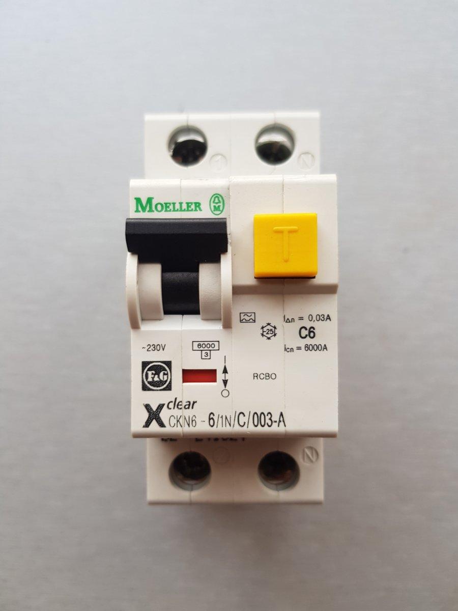 Moeller Eaton CKN6-6/1N/C/003-A-DE 241521 – NOWY- wyłącznik różnicowoprądowy