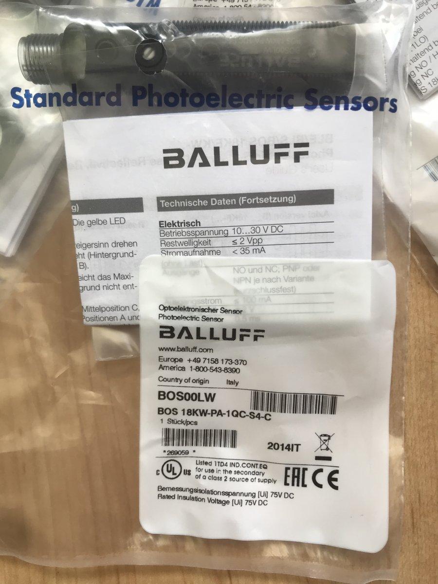 Czujnik optyczny fotoelektryczny BOS00LW Balluff