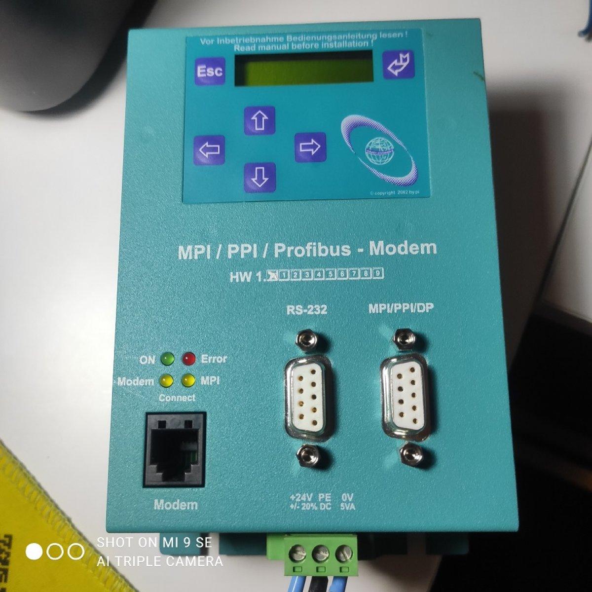 modem komunikacyjny profibus MPI PPI