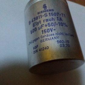 Kondensatory Siemens 500µF 150V - 250 sztuk