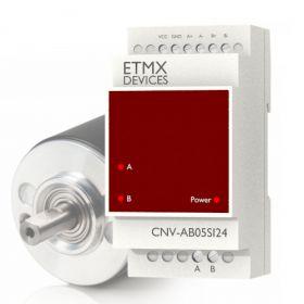 Konwerter do enkodera AB 5V na SINK 24V PLC ETMX
