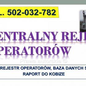 Zgłoszenie do CRO, Centralny Rejestr Operatorów. Lodówki, Pompy ciepła, chłodnie, klimatyzacja, gaśnice, rejestracja, wpis, założenie karty urządzeń