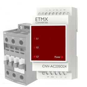 Konwerter 230V AC na 24 V SOURCE PLC ETMX