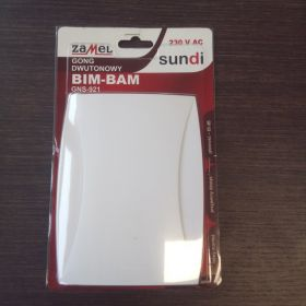 Gong dwutonowy BIM-BAM 230V biały GNS-921-BIA SUN10000118