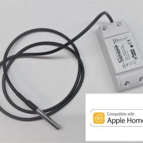 Sonoff basic + DS18B20 Apple HomeKit termostat