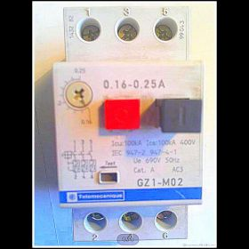Wyłącznik silnikowy GZ1-M02 ; zakres 0,16-0,25A