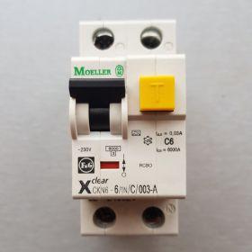 Wyłącznik różnicowoprądowy Moeller Eaton 241144 - CKN6 6/1N/C/003 - NOWY