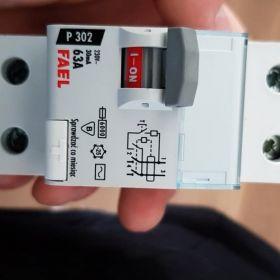 FAEL Wyłącznik różnicowo-prądowy P302 2P 63A 30mA