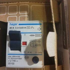 Wyłącznik różnicowo-prądowy cdc440j hager 30mA 2-polig