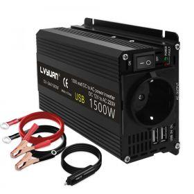 Inwerter Napięcia 12V do 220V 1500W Przetwornica Podwójne wyjście USB